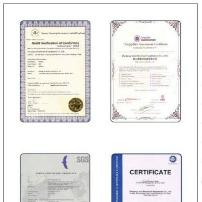 Certification and Insurance Policies